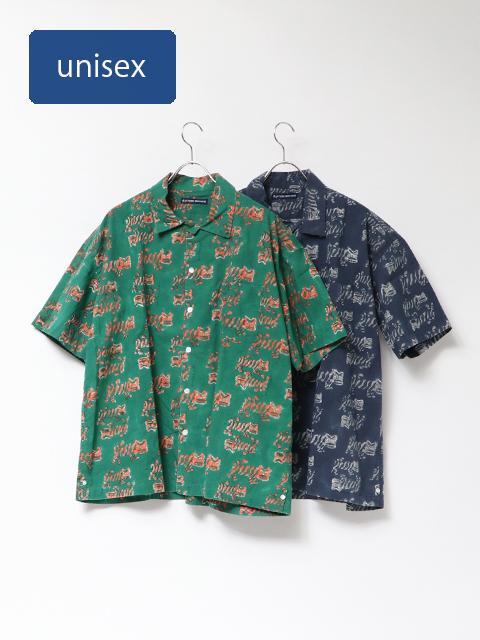 ティグルブロックプリントベニスビーチ半袖シャツ