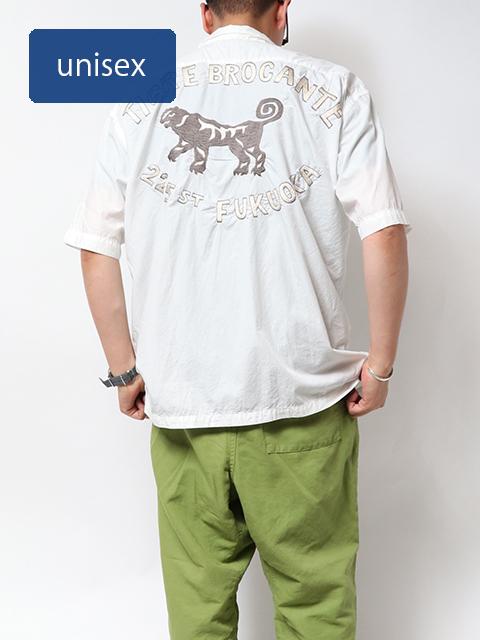TIGREfukuoka刺繍ブロードベニスビーチ半袖シャツ