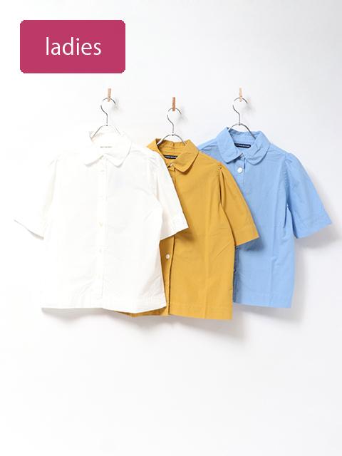タイプライター丸衿パフスリーブシャツ