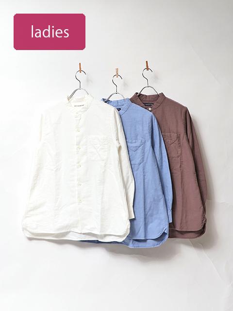 ヴィンテージオックススタンドカラーロングシャツ