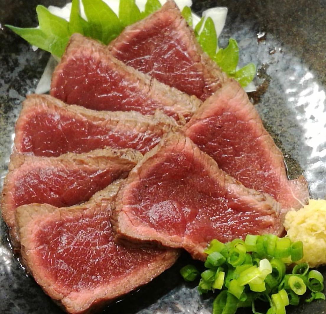 馬肉のたたき 炙り焼き 1P/160g〜180g 【冷凍】 ※たれ1P付