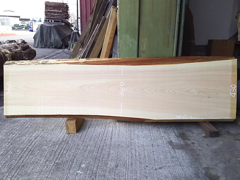 H-219 桧檜ヒノキひのき 国産 天然耳付き板 1680×450 天然乾燥材