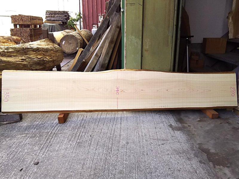 H-220 桧檜ヒノキひのき 国産 天然耳付き板 2050×350 天然乾燥材