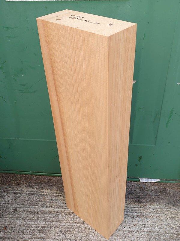 H-509 桧 柾盤 能面 檜ヒノキひのき 米桧 彫刻用 650×185×85 天然乾燥材