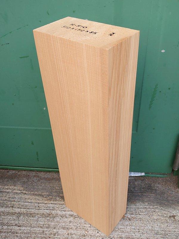 H-510 桧 柾盤 能面 檜ヒノキひのき 米桧 彫刻用 510×150×85 天然乾燥材