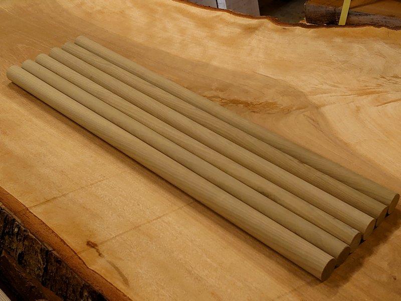 丸棒 バチ用 朴ホウノキほうのき 450×20丸 6本セット 乾燥材 HO-08