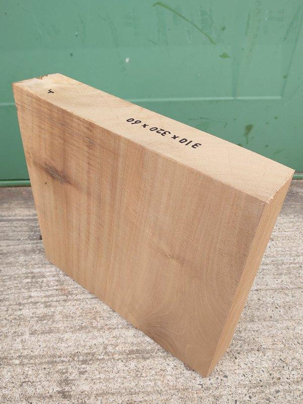 HO-123 朴ホウノキほうのき 国産 彫刻用材 310×320×60 乾燥材