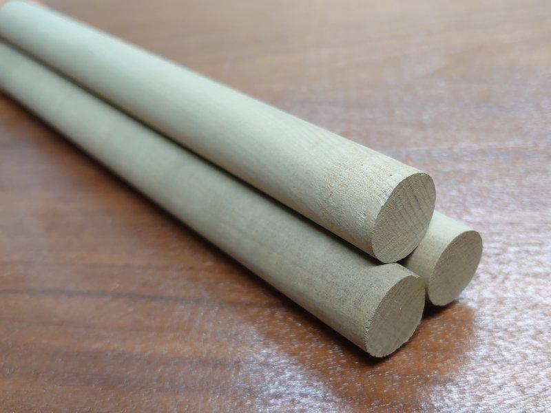 丸棒 朴ホウノキほうのき 赤身 国産 1250×20丸 乾燥材 HO-02