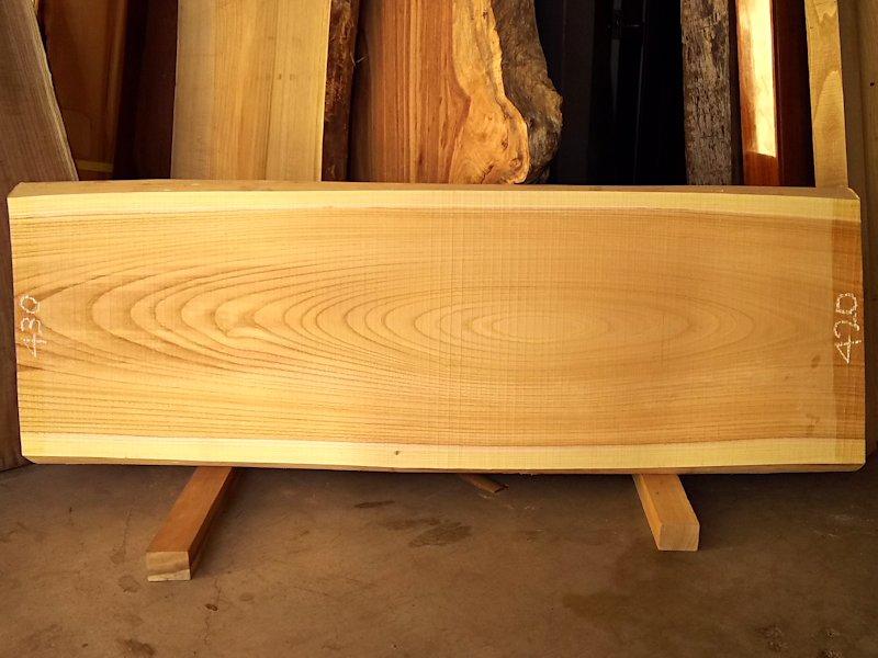 K-512 欅ケヤキ 国産 天然耳付き板 1350×450 天然乾燥材