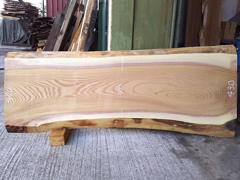 K-533 欅ケヤキ 国産 天然耳付き板 1500×500 天然乾燥材