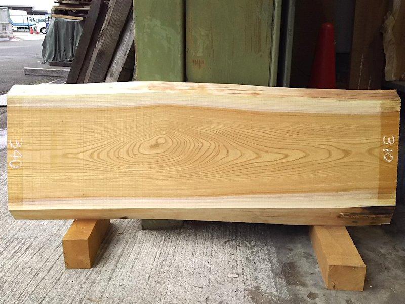 K-535 欅ケヤキ 国産 天然耳付き板 1150×400 天然乾燥材