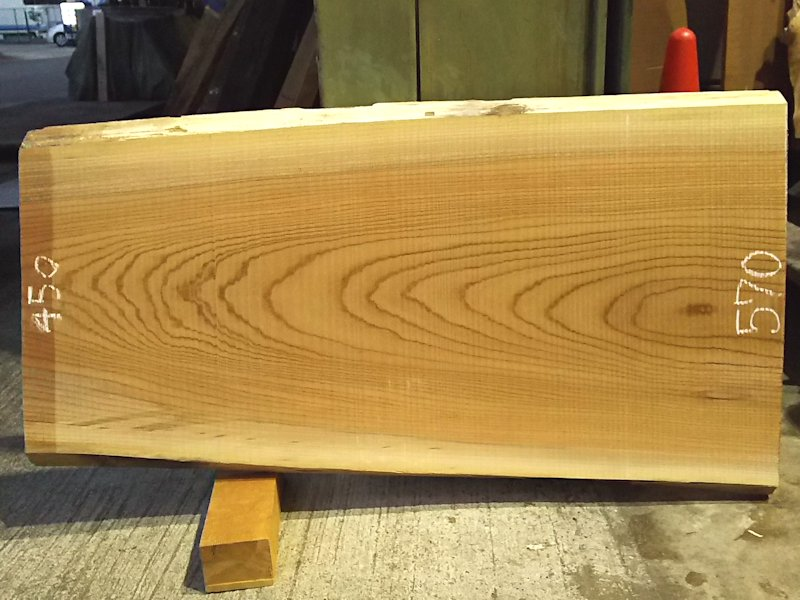 K-542 欅ケヤキ 国産 天然耳付き板 1120×500 天然乾燥材