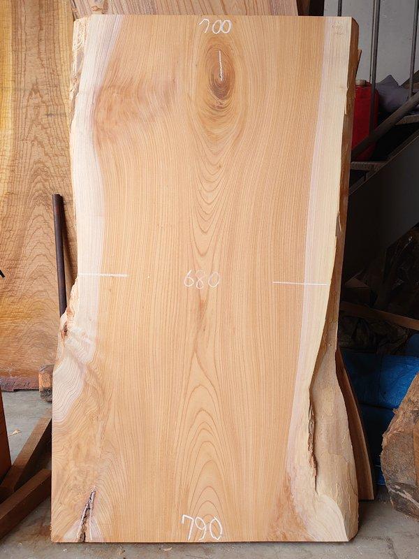 K-637 欅ケヤキ 国産 天然耳付き板 1400×800 表面加工済 天然乾燥材