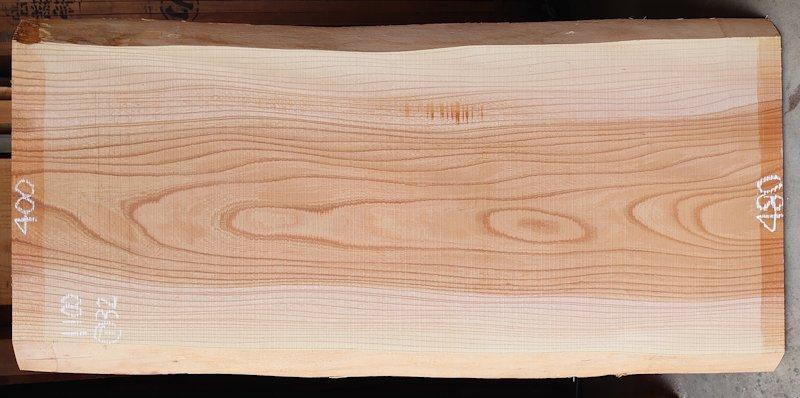 K-682 欅ケヤキ 国産 天然耳付き板 1100×500 天然乾燥材