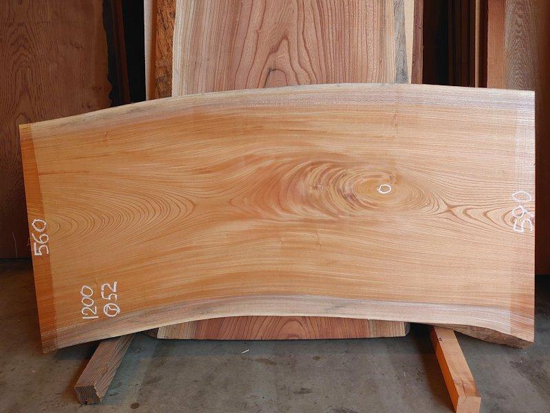 K-705 欅ケヤキ 国産 天然耳付き板 1200×600 表面電気カンナ済 天然乾燥材