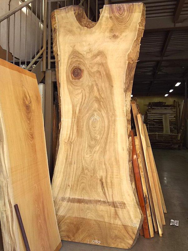 KS-603 楠クスノキ 国産 特大天然耳付き板 3300×1400 天然乾燥材