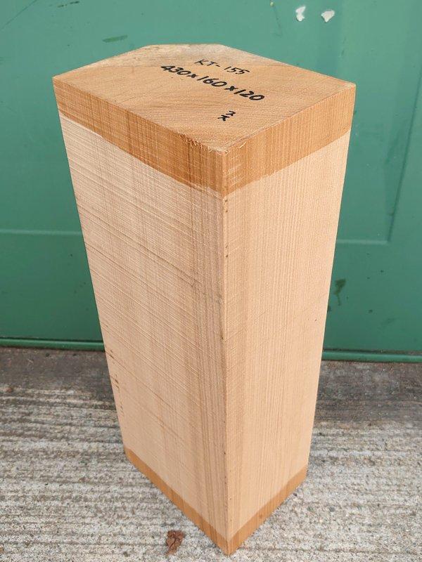 KT-155 桂カツラかつら 国産 彫刻用材 430×160×120 乾燥材