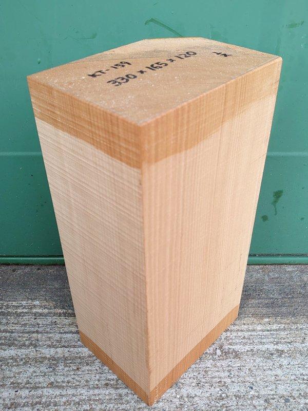 KT-159 桂カツラかつら 国産 彫刻用材 330×165×120 乾燥材