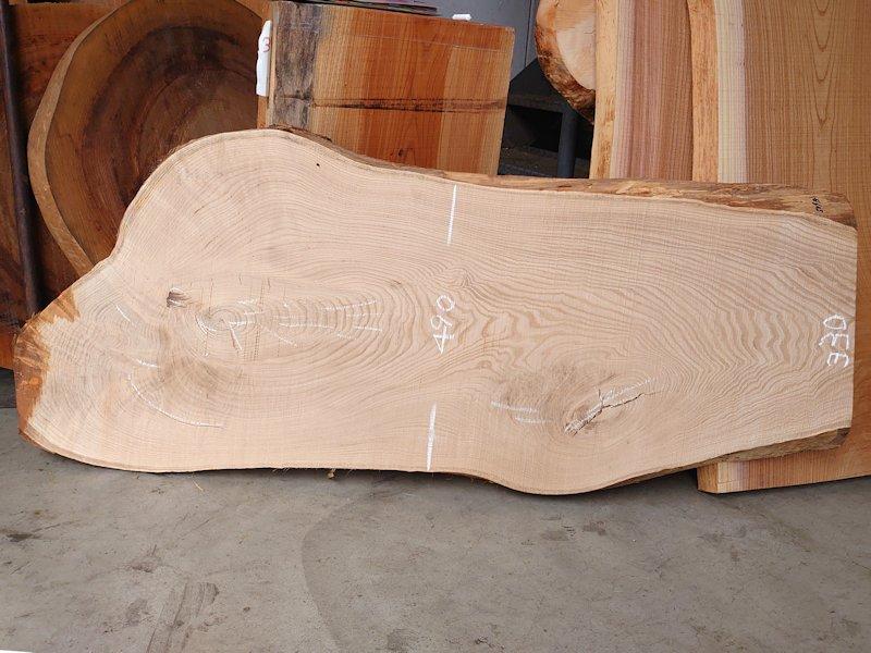 KU-150 栗クリ 国産 天然耳付き板 1400×550 天然乾燥材