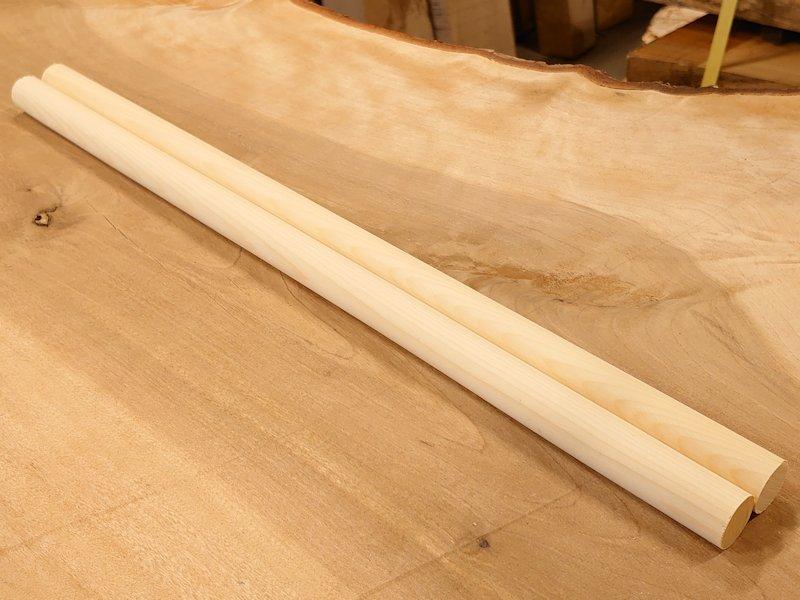 丸棒 バチ用 榧カヤかや 450×20丸 2本セット 乾燥材 KY-01