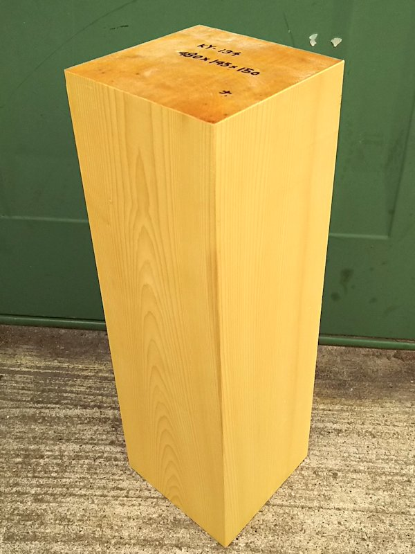 KY-134 榧カヤかや 彫刻用材 480×145×150 乾燥材