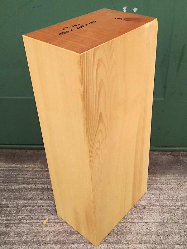 KY-141 榧カヤかや 彫刻用材 450×200×130 乾燥材