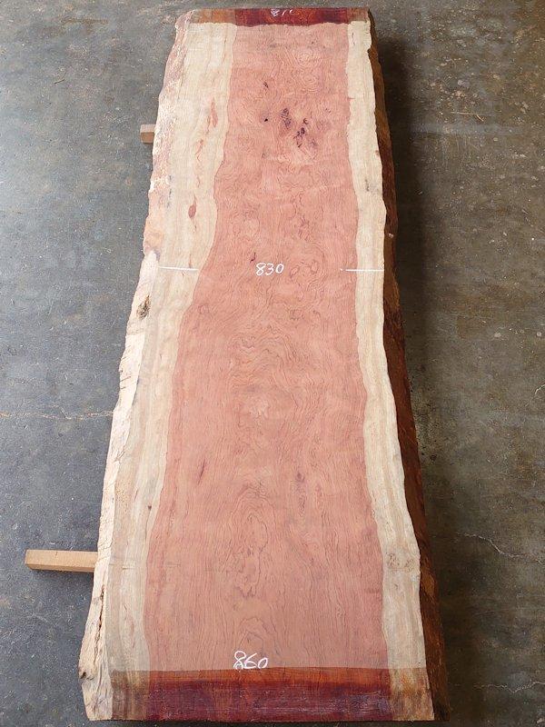 BU-111 ブビンガ アフリカ産 天然耳付き板 2950×950 天然乾燥材
