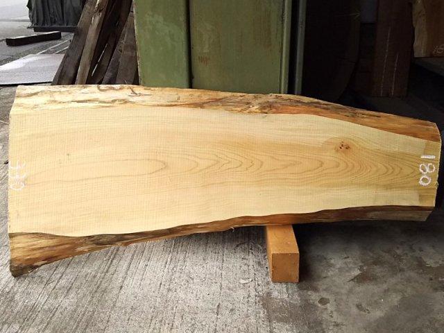 H-211 桧檜ヒノキひのき 国産 天然耳付き板 1200×350 天然乾燥材