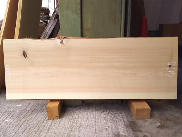 H-215 桧檜ヒノキひのき 国産 天然耳付き板 1140×400 天然乾燥材