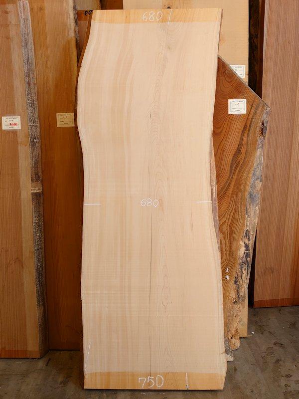 H-226 桧檜ヒノキひのき 天然耳付き板 2000×750 天然乾燥材