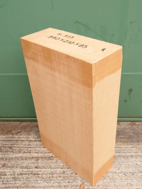 H-505 桧 柾盤 能面 檜ヒノキひのき 米桧 彫刻用 340×210×85 天然乾燥材