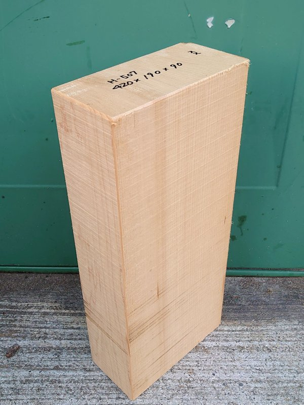 H-507 桧 柾盤 能面 檜ヒノキひのき 米桧 彫刻用 420×190×90 天然乾燥材