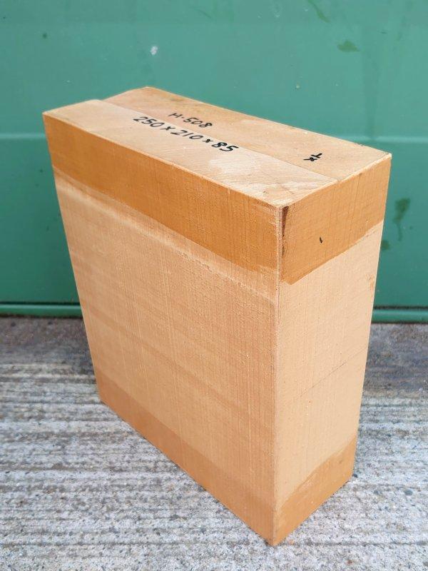 H-508 桧 柾盤 能面 檜ヒノキひのき 米桧 彫刻用 250×210×85 天然乾燥材