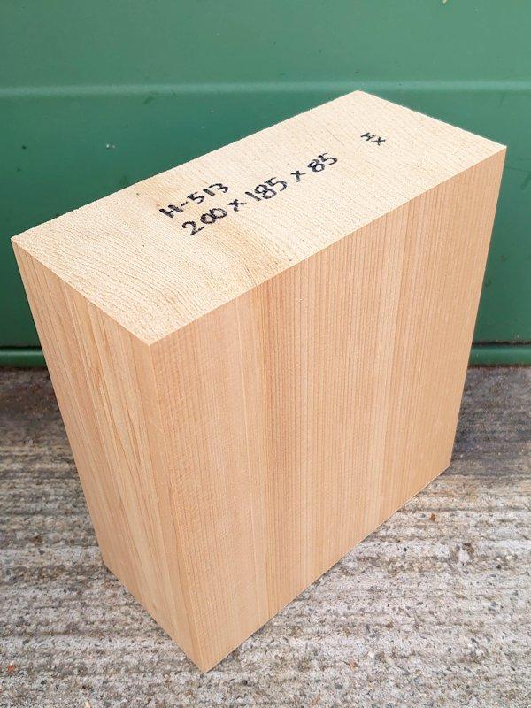 H-513 桧 柾盤 能面 檜ヒノキひのき 米桧 彫刻用 200×185×85 天然乾燥材