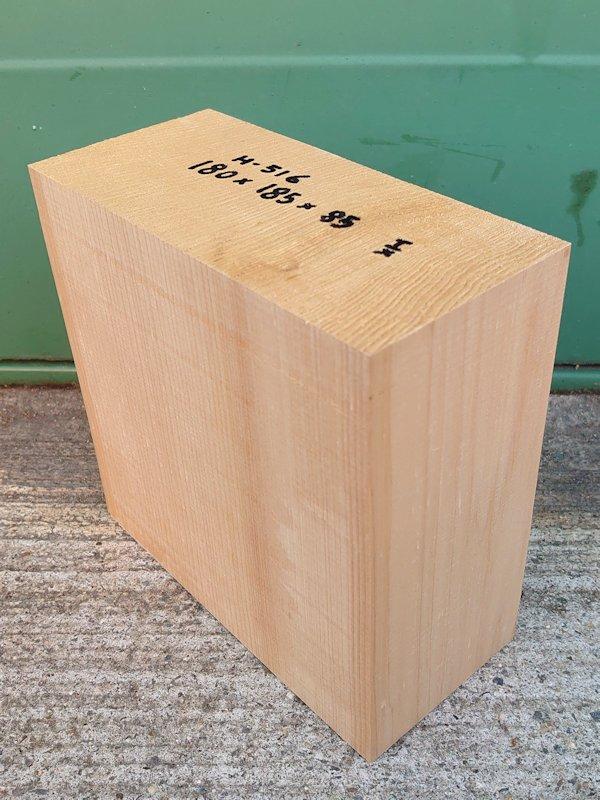 H-516 桧 柾盤 能面 檜ヒノキひのき 米桧 彫刻用 180×185×85 天然乾燥材