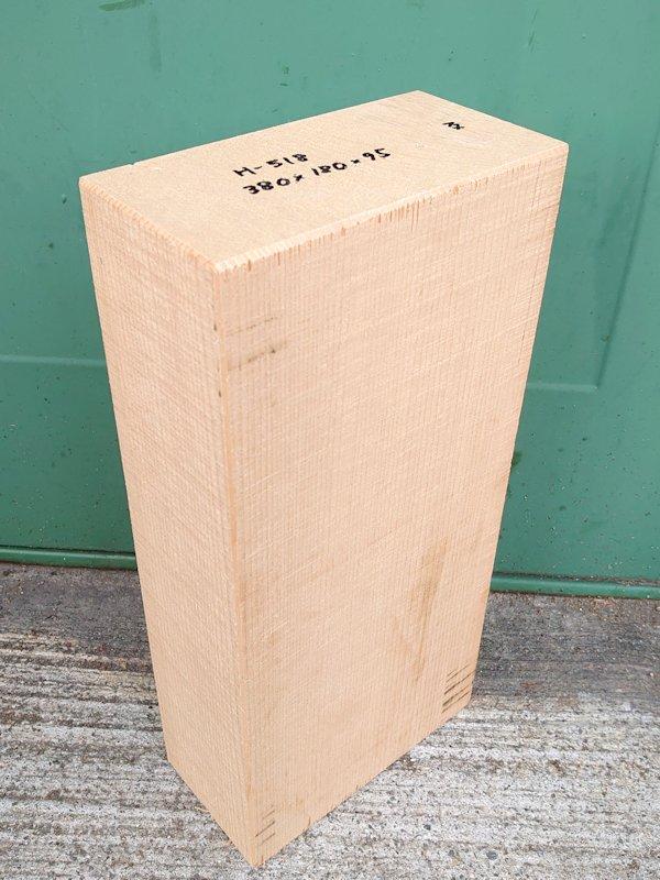H-518 桧 柾盤 能面 檜ヒノキひのき 米桧 彫刻用 380×180×95 天然乾燥材