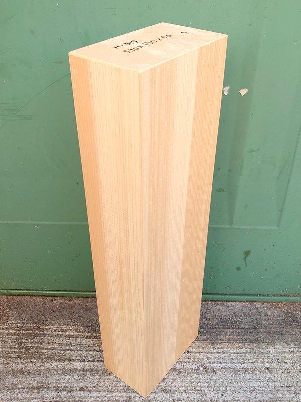 H-519 桧 柾盤 能面 檜ヒノキひのき 米桧 彫刻用 530×150×90 天然乾燥材