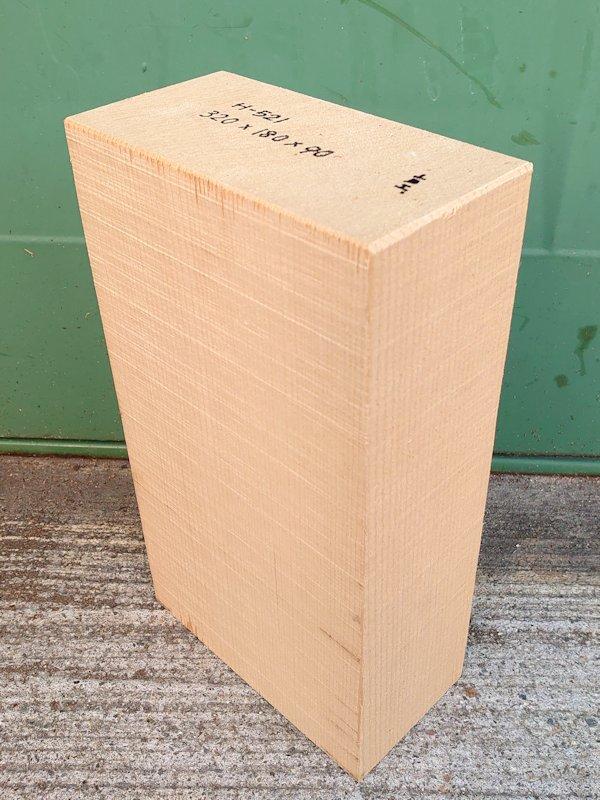 H-521 桧 柾盤 能面 檜ヒノキひのき 米桧 彫刻用 320×180×90 天然乾燥材
