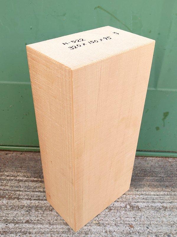 H-522 桧 柾盤 能面 檜ヒノキひのき 米桧 彫刻用 320×150×95 天然乾燥材