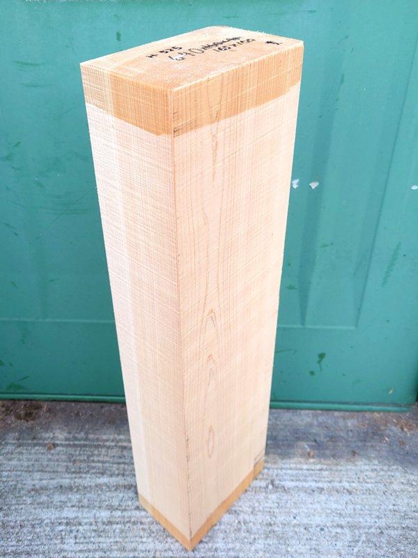 H-525 桧 檜ヒノキひのき能面 彫刻用 640×165×100 天然乾燥材