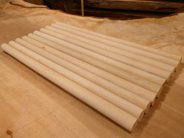 丸棒 ヒバ バチ用 青森産希少材 400×20丸10本セット 乾燥材 HB-02