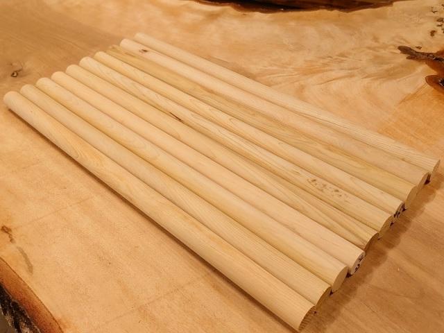 丸棒 ヒバ バチ用 青森産希少材 400×20丸10本セット 乾燥材 HB-02アウトレット