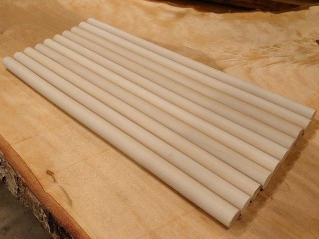 丸棒 バチ用 朴ホウノキほうのき 450×20丸 10本セット 乾燥材 HO-05