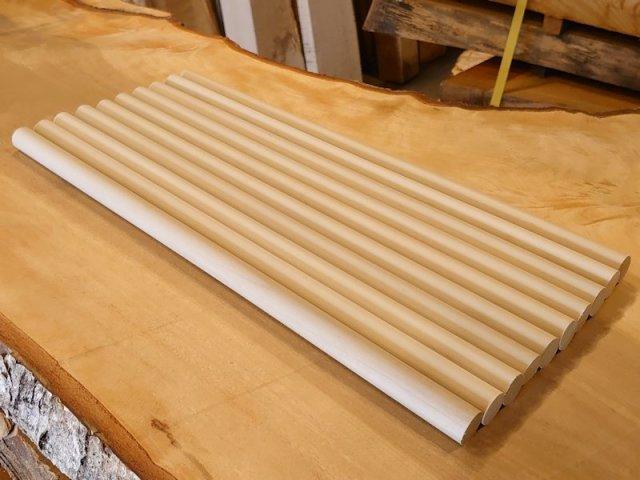 丸棒 バチ用 朴ホウノキほうのき 450×20丸 10本セット 乾燥材 HO-07