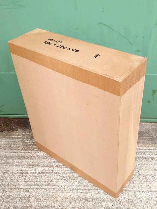 HO-135 朴ホウノキほうのき 国産 彫刻用材 350×290×90 乾燥材