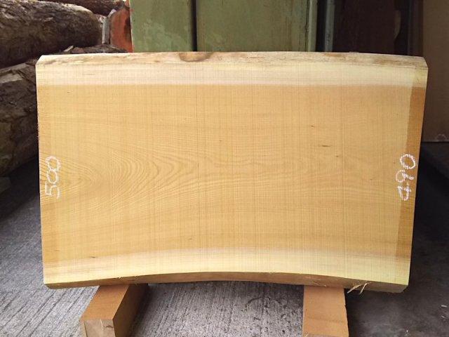 K-501 欅ケヤキ 国産 天然耳付き板 830×500 天然乾燥材