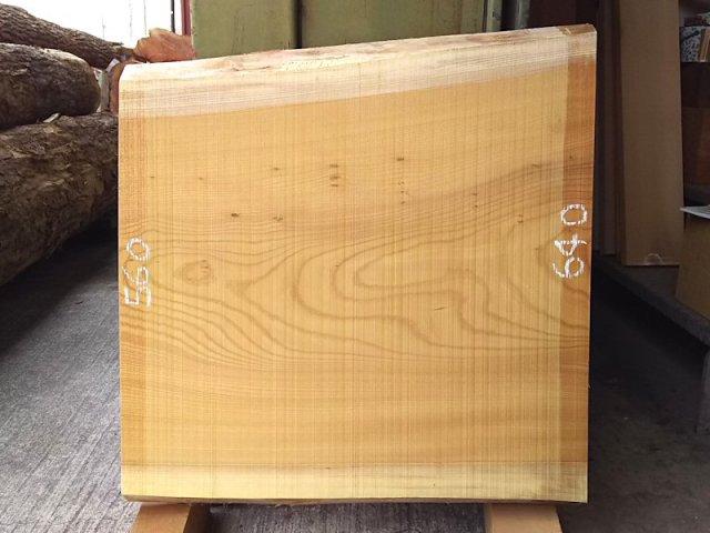 K-502 欅ケヤキ 国産 天然耳付き板 640×600 天然乾燥材