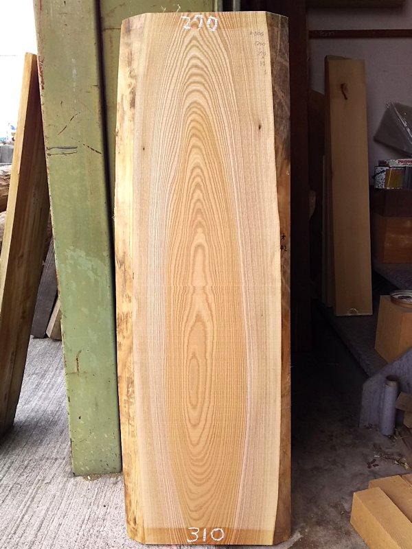 K-506 欅ケヤキ 国産 天然耳付き板 1240×350 天然乾燥材