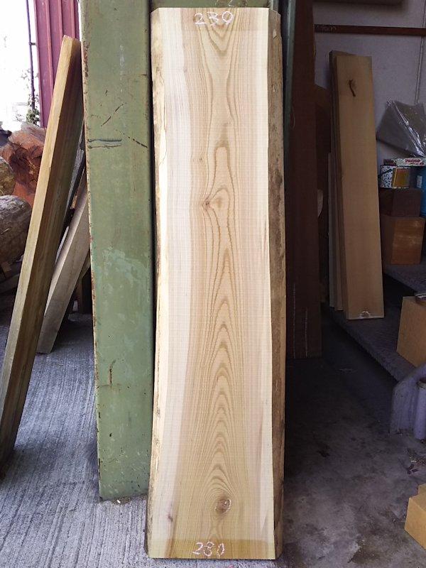 K-509 欅ケヤキ 国産 天然耳付き板 1210×300 天然乾燥材