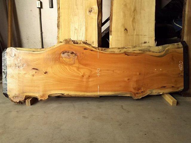 K-510 欅ケヤキ 国産 天然耳付き板 2030×500 天然乾燥材